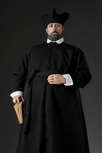 Portrait length color image of St. Francis Borgia, by George Stuart.