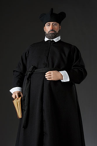 Portrait length color image of St. Francis Borgia aka.