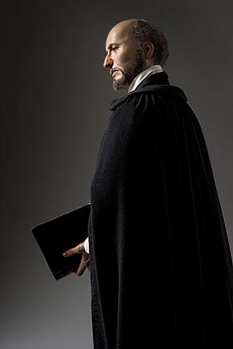 Portrait length color image of St. Ignatius de Loyola aka. Jesuit, by George Stuart.