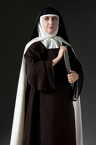 Portrait length color image of St. Teresa of Avila aka.