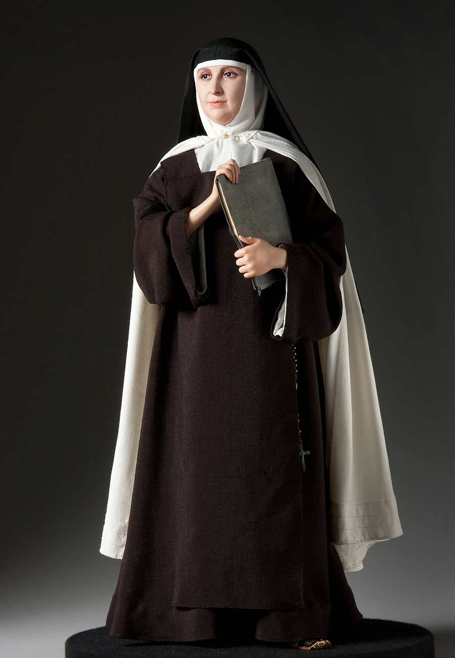 Full length color image of St. Teresa of Avila, by George Stuart.