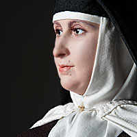 Left close up color image of St. Teresa of Avila, by George Stuart.