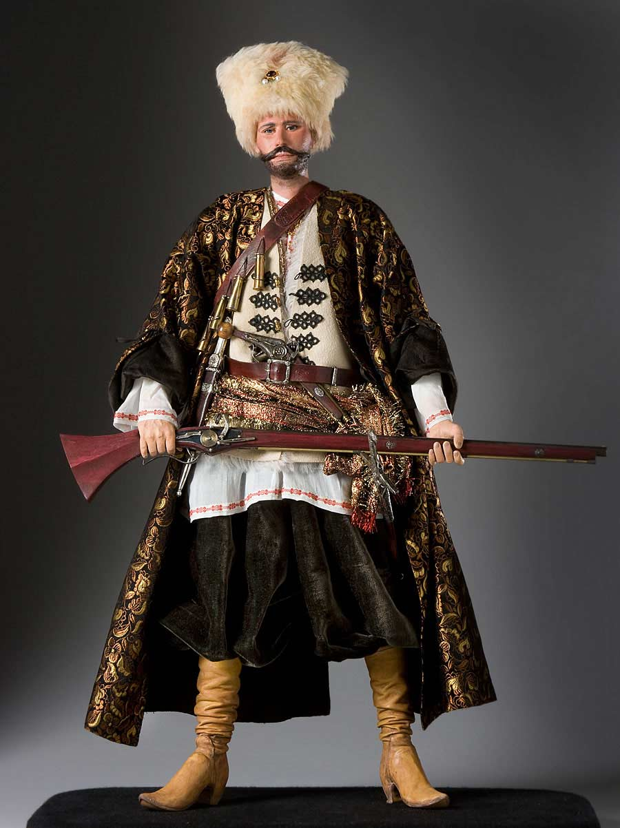 Full length color image of Stenka Razin aka. Степан Тимофеевич Разин, by George Stuart.