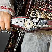 Left close up color image of Stenka Razin aka. Степан Тимофеевич Разин, by George Stuart.