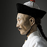 Right closup color image of Tao Kuang aka. Daoguang Emperor, by George Stuart.