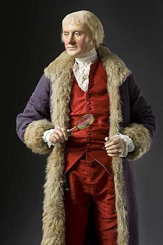 Portrait length color image of Thomas Jefferson aka.