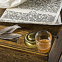 Thomas Paine's paper, ink and libation