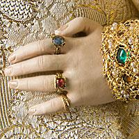 Left close up color image of Tsarevna Sophia Alekseyevna aka. Царевна Софья Алексеевна, by George Stuart.