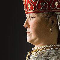 Right closup color image of Tsarevna Sophia Alekseyevna aka. Царевна Софья Алексеевна, by George Stuart.