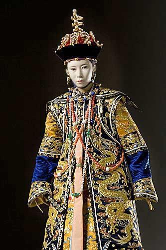 Portrait length color image of Tzu-An Empress aka. Empress Niuhulu, by George Stuart.