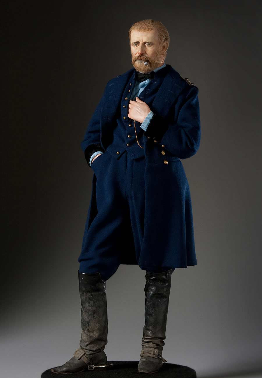 "Full length color image of Ulysses S. Grant aka. ""Unconditional Surrender"", by George Stuart."