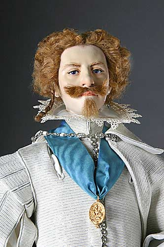 Portrait length color image of George Villiers Duke of Buckingham, by George Stuart.