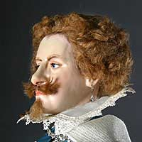 Right closup color image of George Villiers Duke of Buckingham, by George Stuart.
