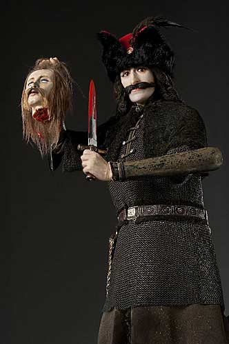 Portrait length color image of Vlad Tepes aka.