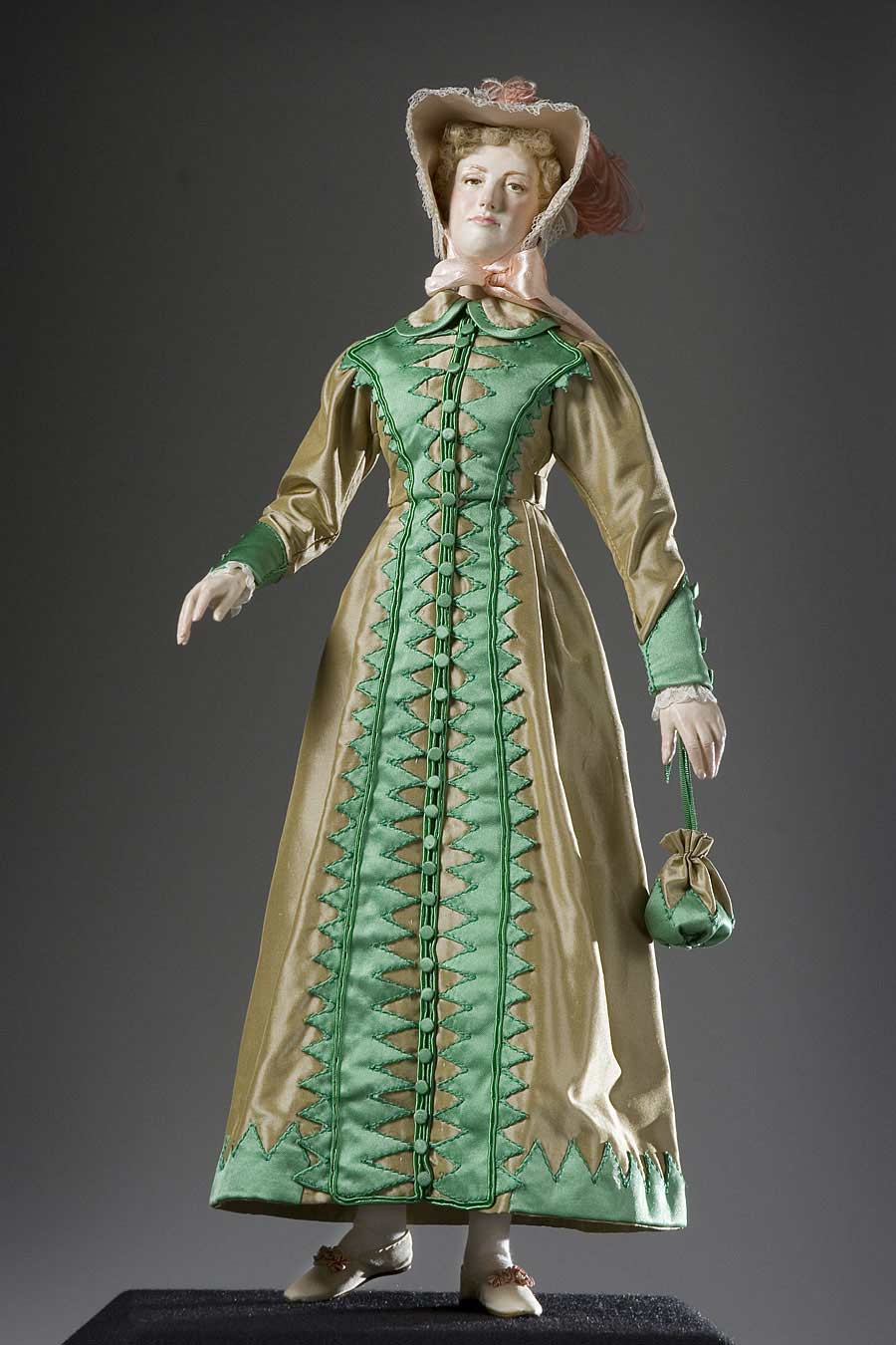 Full length color image of Walking Dress, by George Stuart.