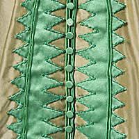 Left close up color image of Walking Dress, by George Stuart.