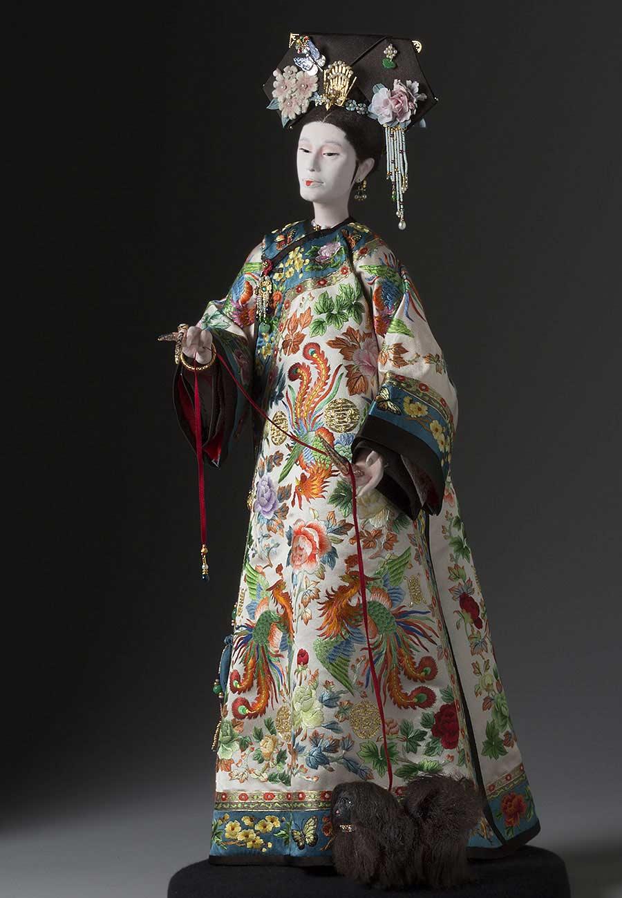 Full length color image of Yehenara aka. Cixi, by George Stuart.