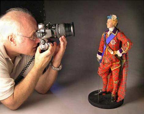 Photographer Peter D'Aprix and Historical Figure of Bonnie Prince Charlie