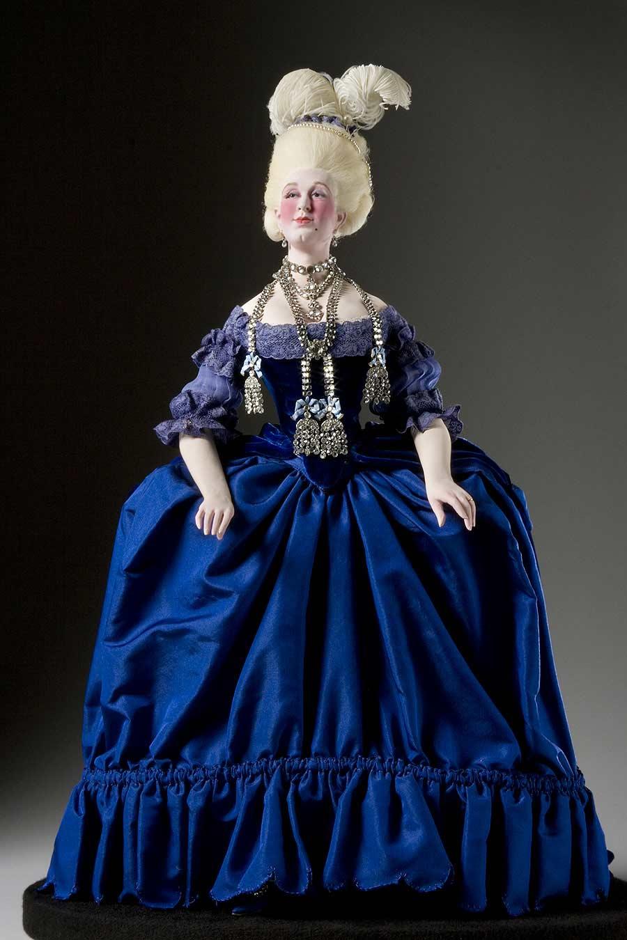 Full length color image of Countess de la Motte (necklace) aka. Jeanne de Valois, by George Stuart.