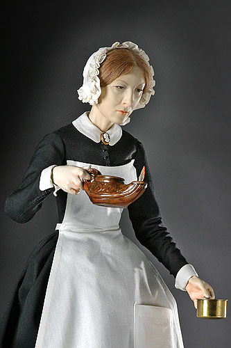 Portrait of Florence Nightingale aka. The Lady with the Lamp from Historical Figures of England